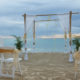 wedding ceremony setup by the ocean