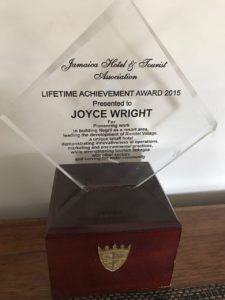 Joyce Wright Lifetime Achievement AWard 2015