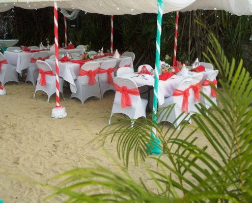 Dinner set-up at Rondel Village