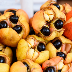 tray of ripe Ackee fruit