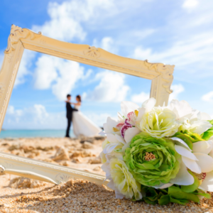 destination beach wedding image